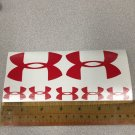"Under Armour Decal Sticker Vinyl Mix Sz: 3"" 1.25"" Logo For Surfboard Window RED"