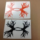 2 Under Armour/Armor Antlers vinyl decal/sticker Outdoors Hunting orange black