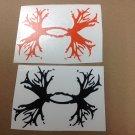 2 Under Armour/Armor Antlers vinyl decal/sticker Outdoors Hunting orange black