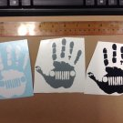 3 Of Jeep wave decal 4.25x3.25 High Quality Sticker Color: Black/white/gray Each