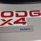 Dakota Tailgate decal stickers 4X4 RAM DAKOTA SPORTS red