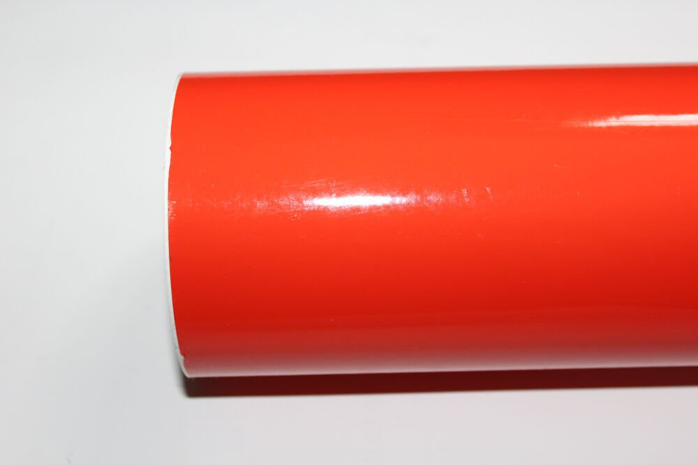"15"" x 10 Ft roll Orange vinyl Adhesive Backed Die Cut Decal Plotter Sign film"