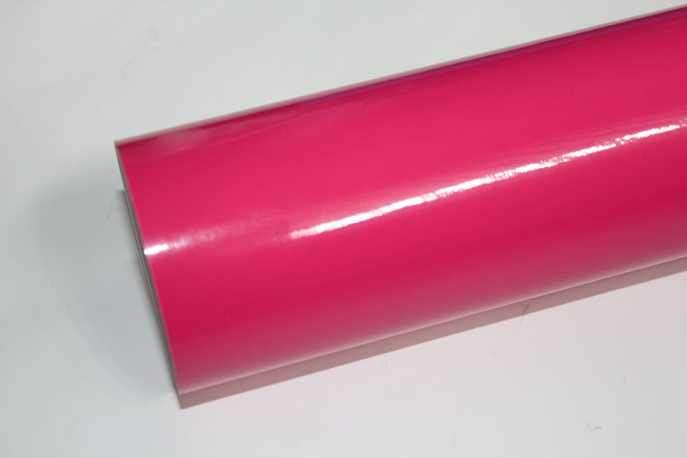 """24"""" x 10 Ft roll Hot Pink vinyl Adhesive Backed Die Cut Decal Plotter Sign film"""