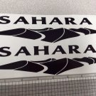 SAHARA  desert Full Set LOGO DECAL-black Color Kit Vinyl Stickers Decals