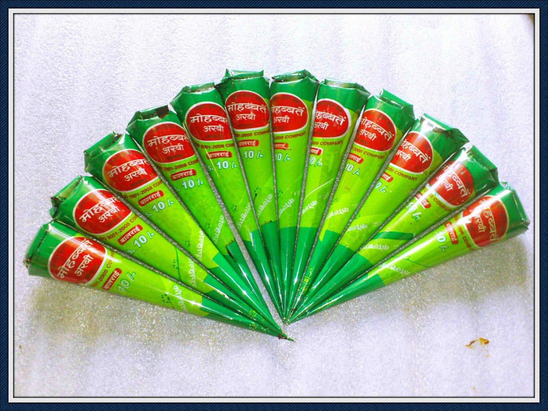 12 henna cones - Brown henna cones - mehandi cones - FREE gift