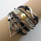Europen Retro Angel Wings Harry Potter Handmade Infinity Bracelet