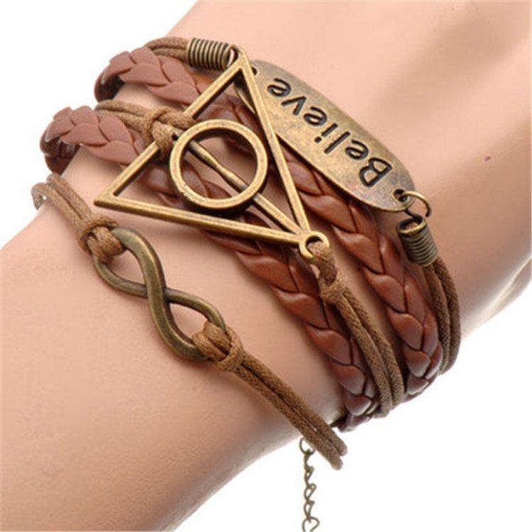 Europen Retro Harry Potter Eight Handmade Infinity Bracelet