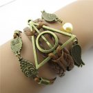 Europen Retro Harry Potter the Dove of Peace Owl Handmade Infinity Bracelet