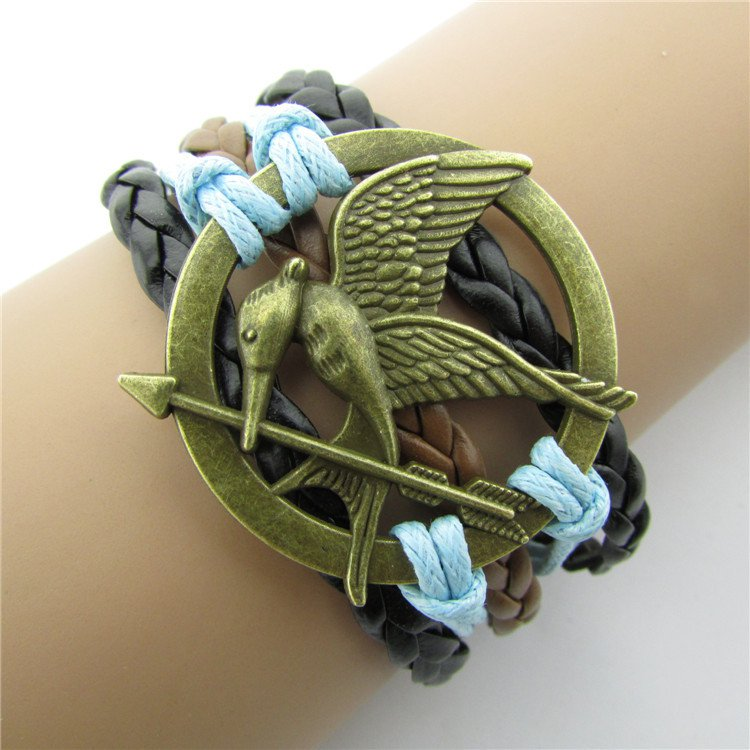 Europen Retro Sword of Lovebirds Handmade Christmas Infinity Bracelet
