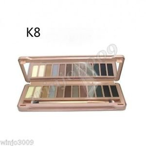 12-Color Smoky Cosmetic Waterproof Makeup Naked Eyeshadow Palette NK8