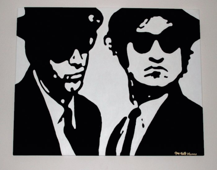 The Blues Brothers Pop Art Painting