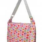 Pink Owl Print Lightweight Messenger Satchel Fashion Shoulder Bag College School