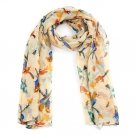 Bird Print Fashion Scarf Multi Coloured UK Stock