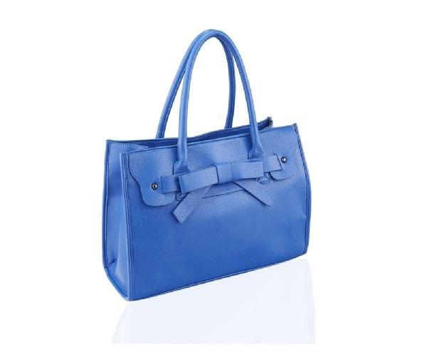 Large Blue Handheld Handbag with Bow Detail UK Stock + FREE GIFT