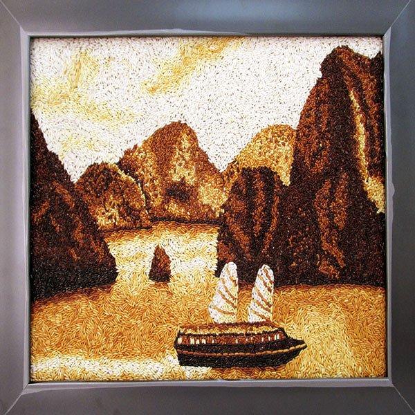 Ha Long Bay - Vietnamese Landscape Rice Painting