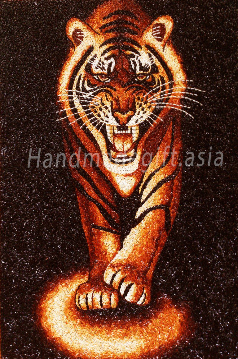 Rice Painting Tiger
