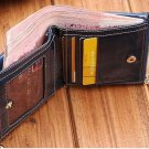 genuine leather wallet for womens, double zipper