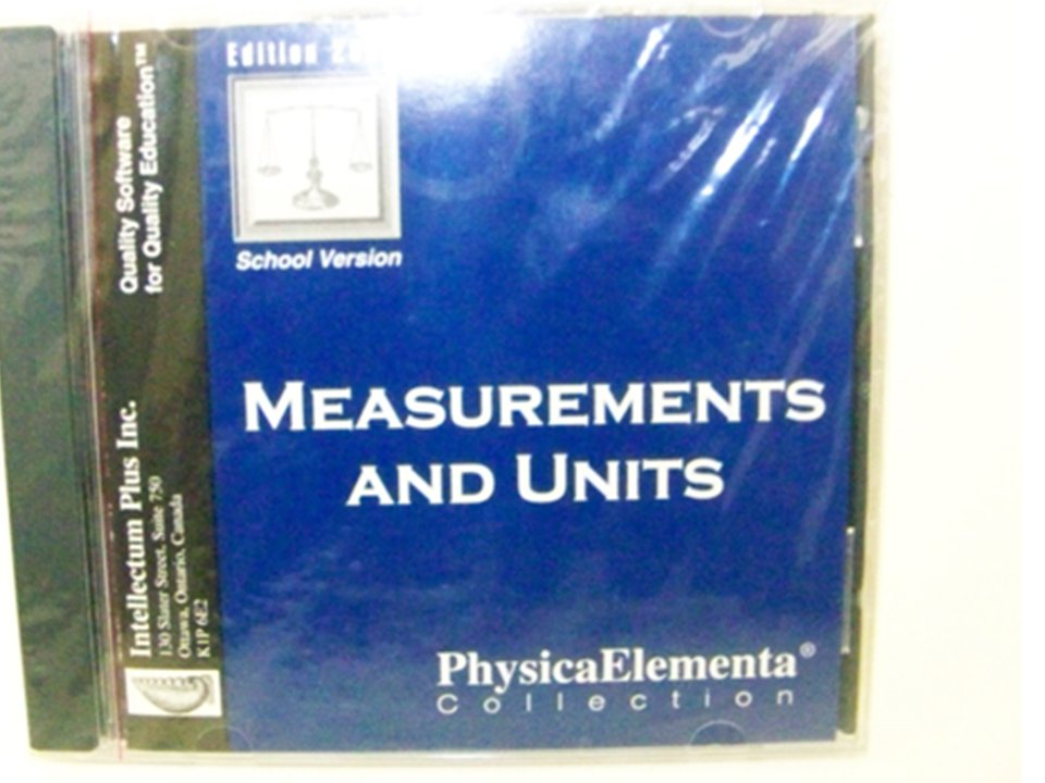 MEASUREMENTS AND UNITS 2000 Edition, School Version) CD-ROM