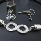 BDSM- Rhinestone infinity day collar n180
