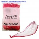 Aqua Air Debris Screens Bag of 20