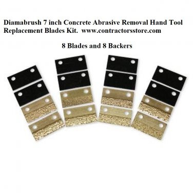 """Diamabrush 7""""  Replacement Blades Kit 8 pack Concrete Abrasive Removal Hand Tool"""