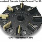 "7"" Diamabrush Coating, Paint, Adhesives, Glue Removal Tool 25 Grit"