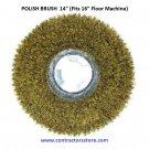 """Floor Machine 14"""" Polish Brush (Fits 16"""" Floor Machine)"""