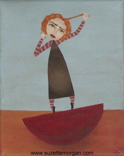 Painful Balance Print by Suzette M. Morgan