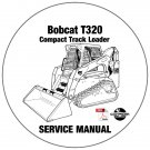 Bobcat Compact Track Loader T320 Service Manual A7MP60001-AAKZ11001 CD