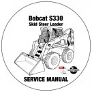Bobcat Skid Steer Loader S330 Service Manual A5HA11001- AAKM11001 CD