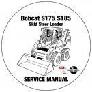 Bobcat Skid Steer Loader S175 S185 Service Manual 530111001-ABRT11001 CD