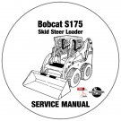 Bobcat Skid Steer Loader S175 Service Manual A3L511001-A3L519999 CD