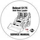 Bobcat Skid Steer Loader S175 Service Manual A3L511001-A3L519999 CD
