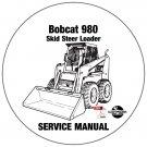 Bobcat Skid Steer Loader 980 Service Repair Manual CD