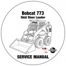 Bobcat Skid Steer Loader 773 Service Manual 517611001-500K11001 CD