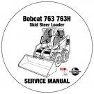 Bobcat Skid Steer Loader 763 763H Service Manual 512212001-512440001-512612001 CD