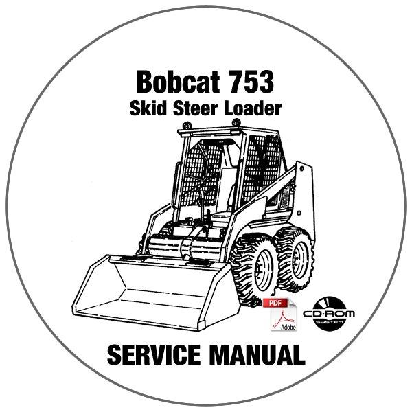 Bobcat Skid Steer Loader 753 Service Manual 515830001-516220001 CD