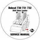 Bobcat Skid Steer Loader 730 731 732 Service Repair Manual CD