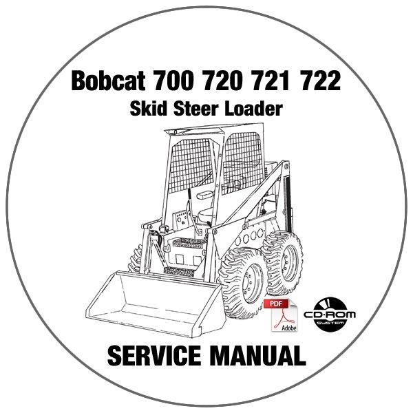 Bobcat Skid Steer Loader 700 720 721 722 Service Repair Manual CD