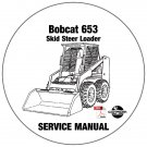 Bobcat Skid Steer Loader 653 Service Repair Manual CD