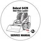 Bobcat Skid Steer Loader 642B Service Repair Manual CD