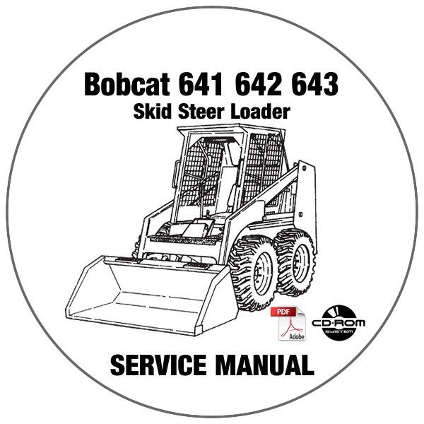 Bobcat Skid Steer Loader 641 642 643 Service Repair Manual CD