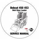 Bobcat Skid Steer Loader 450 453 Service Repair Manual CD