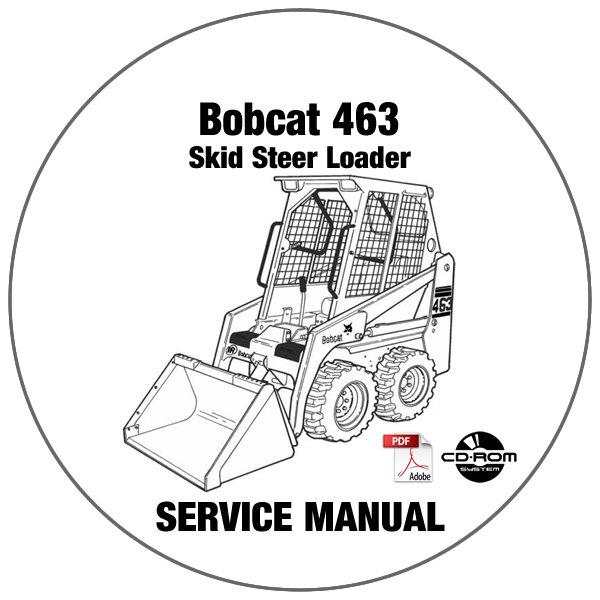 Bobcat Skid Steer Loader 463 Service Manual 520011001-519911001 CD