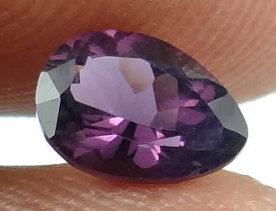 SPINEL Natural 1.15CT 7.57 X 5.58 MM Purple Color Pear Cut Unheated Gem 12111534