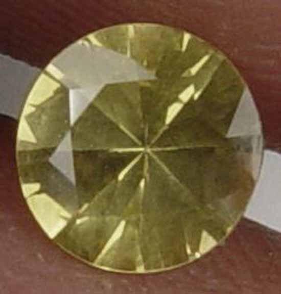 0.65CT Rare Round Cut Natural Ceylon Sapphire 07072502