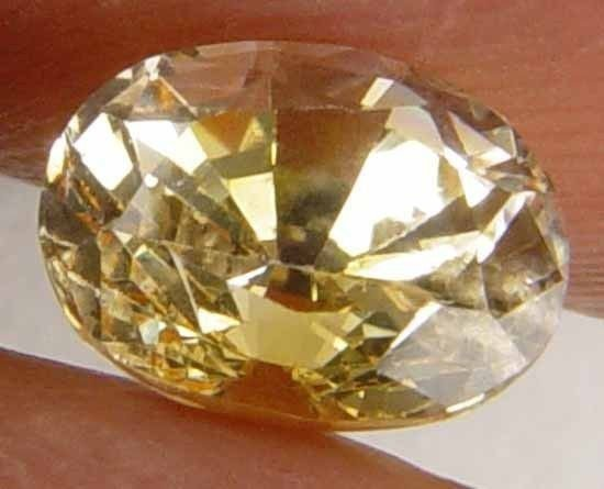 1.25CT Well Cut Natural Glowing Yellow Sapphire 7071673