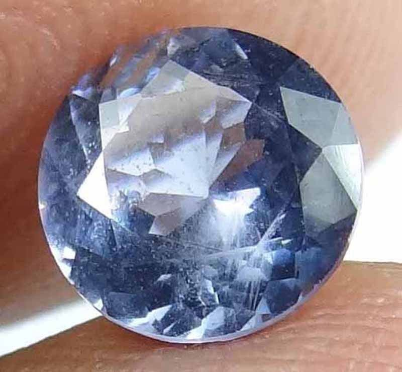 SPINEL Natural 1.25 CT 6.72 MM Beautiful Blue Grey Rare Round Cut Gem 12111876
