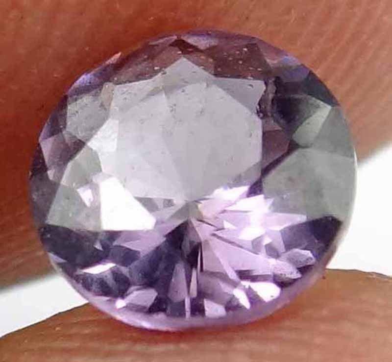 SPINEL Natural 1.05 CT 6.34 MM Purple Color Rare Round Cut Loose Gem 12111895