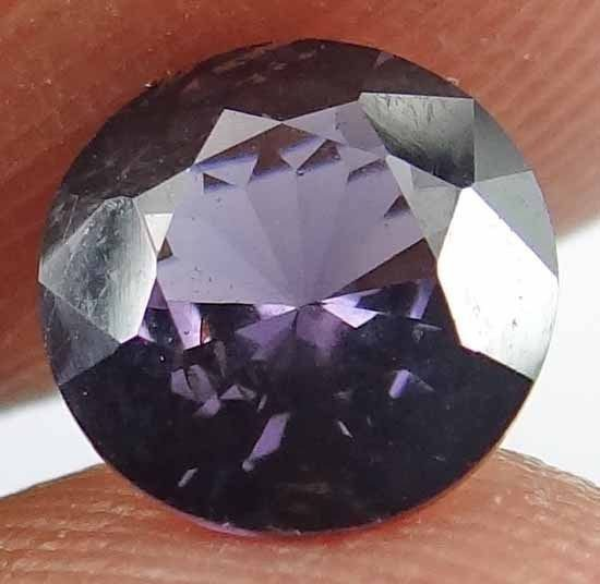 PURPLE SPINEL Natural 1.25 CT 6.84 MM Rare Round Cut Untreated Gemstone 12111846